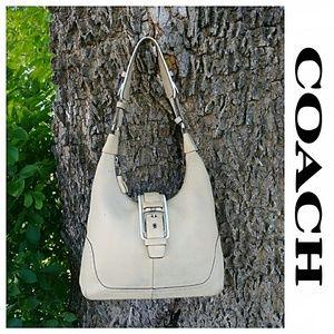 Coach Pebbled Leather Hamptons Bag